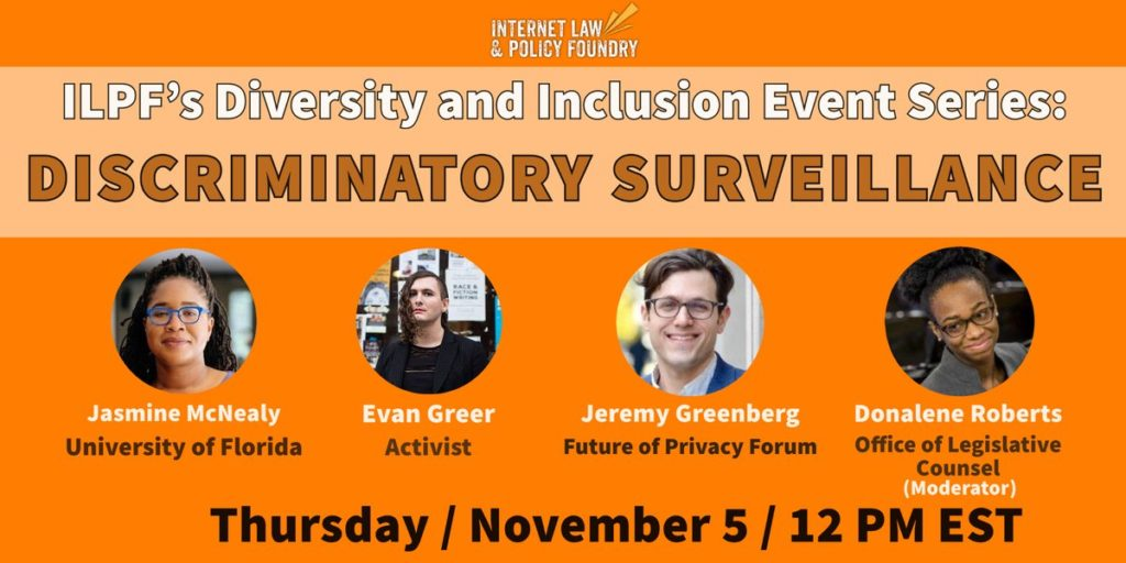 Diversity & Inclusion Event Series: Discriminatory Surveillance